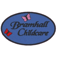 Embroidered Bramhall Childcare Logo