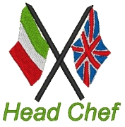 Embroidered Head Chef Logo